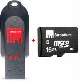 Strontium pedrive+microSD card Naaptol