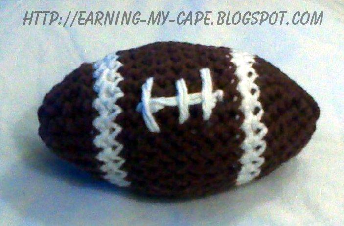 Earning My Cape Little Crochet Football Free Pattern