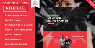 Download Athlete v2.3 Fitness,Gym & Sport WordPress Theme