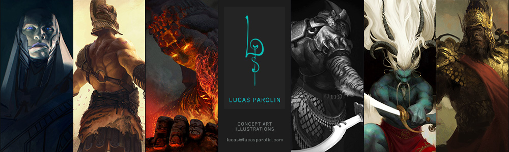 Lucas Parolin - concept art and studies