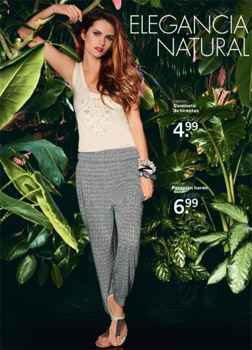 moda mujer para verano de Lidl camiseta de tirantes pantalón harén