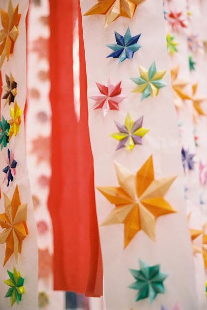 colorful tanabata decorations