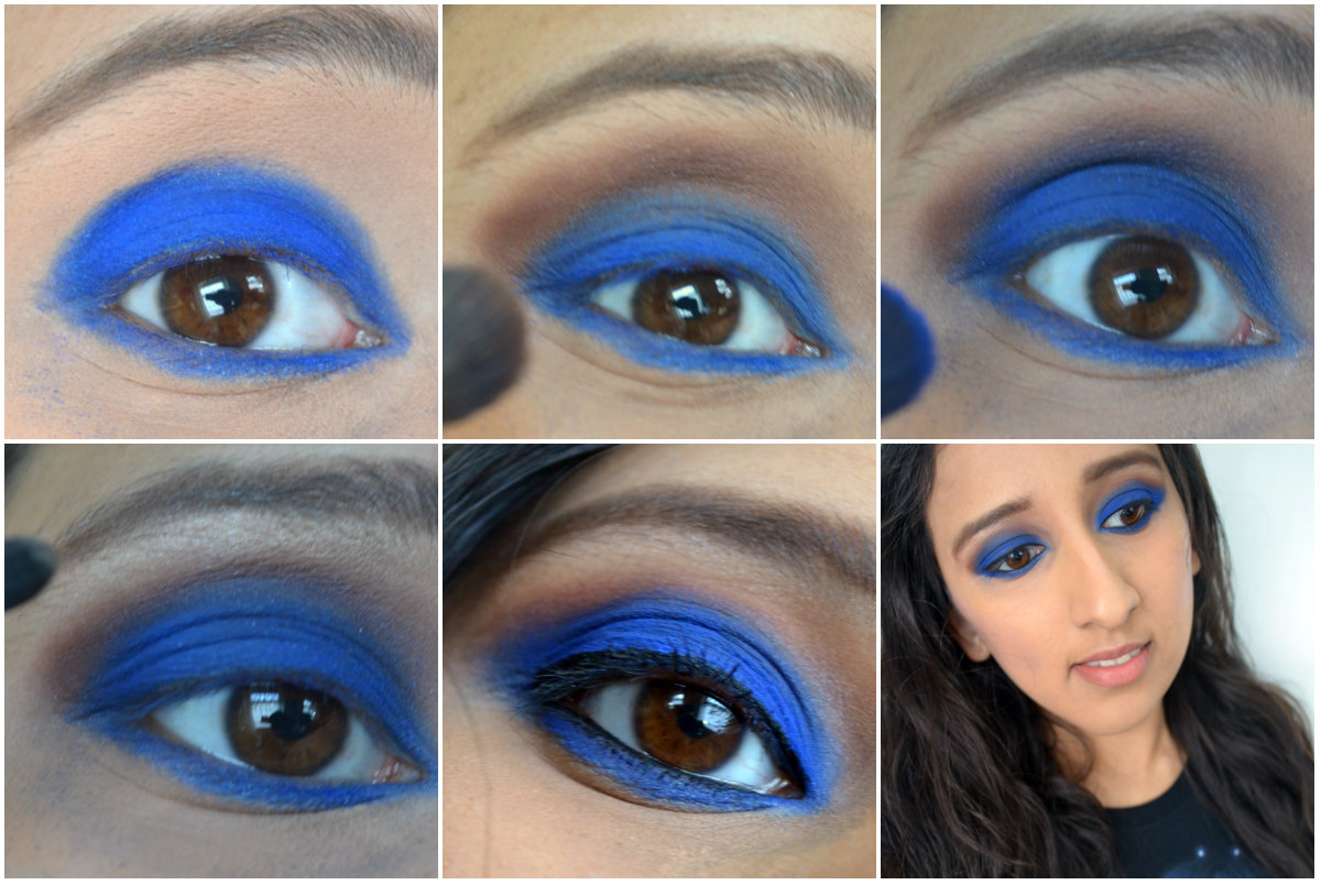 Royal blue eye makeup