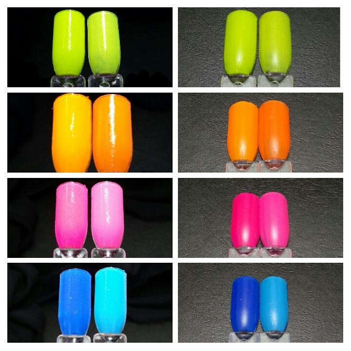 Let\'s Begin Nails: Liquid Kandi Summer Neon Comparison 2014 vs 2015