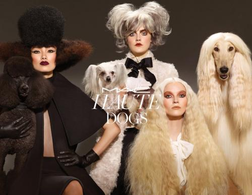 Maquiagem MAC inspirada nos cachorros - Coleção Haute Dogs