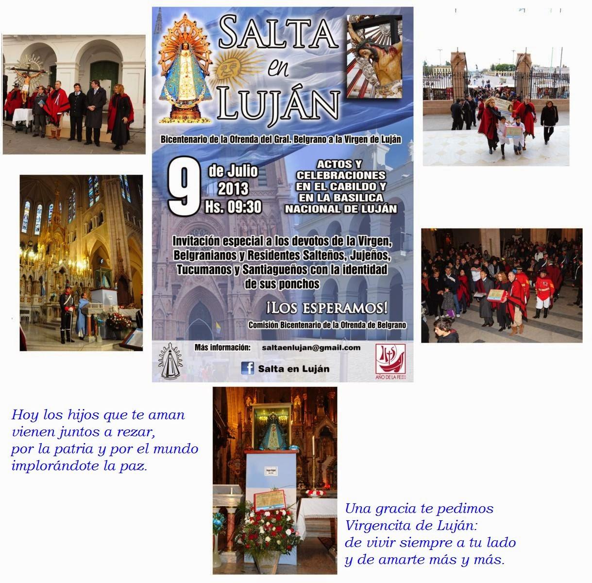 9 DE JULIO 2013 - ACTOS CABILDO Y CELEBRACIONES EN BASÍLICA DE LUJÁN