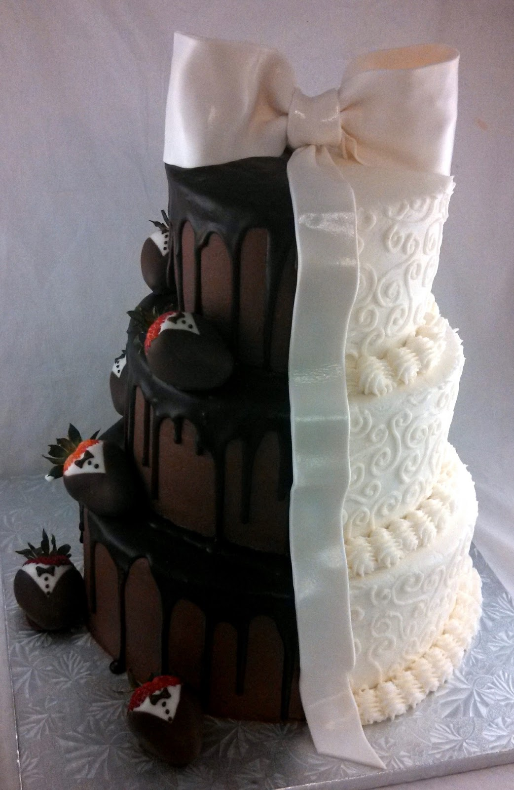 Sugar Spice Sweets Half and Half Wedding Cake