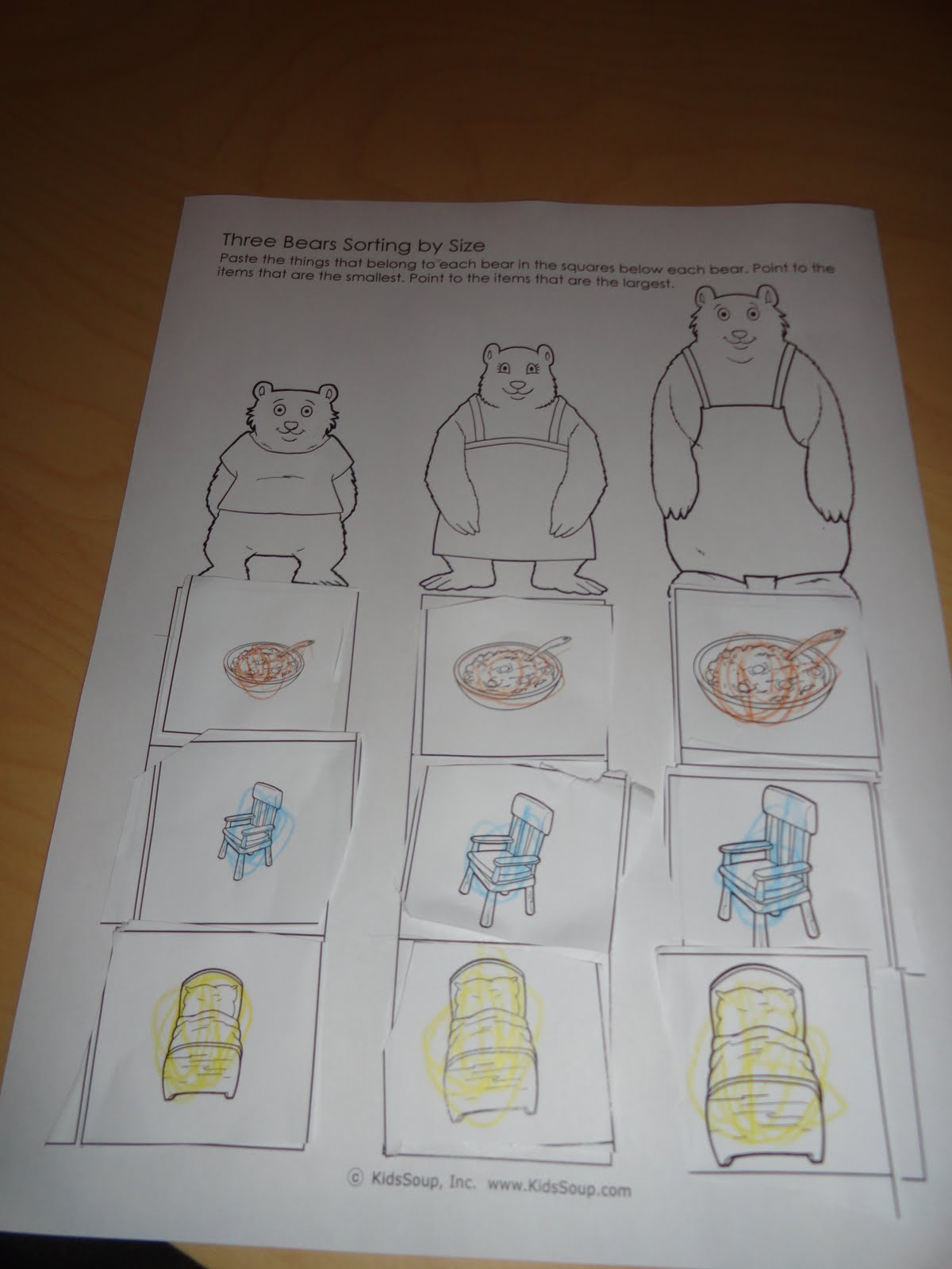related pictures goldilocks and the three chairs or what size bear are