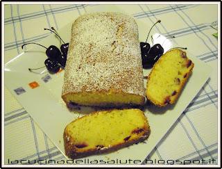 torta margherita con ciliegie con la zero glu