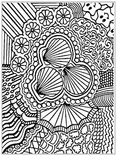 Printable Shell Adult Coloring Pages Free