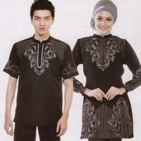 gambar baju muslim couple minimalis