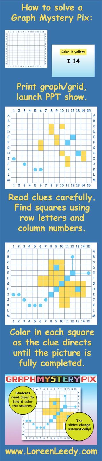 Loreen Leedy Books + More: Art + Math = Graph Mystery Pix...and it\'s ...