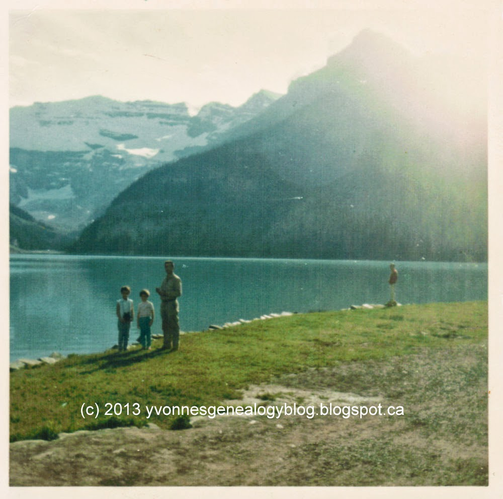 Maurice, Yvonne and Marianne Belair at Lake Louise 1966