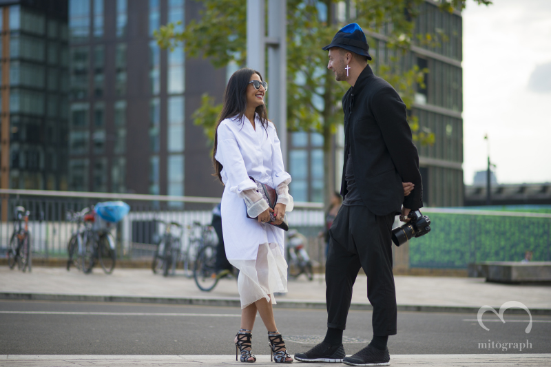 Stylist Nausheen Shah and Photographer Julien Boudet at London Fashion Week 2015 Spring Summer LFW