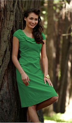 Women's Green Dress - Mariposa Grove 1