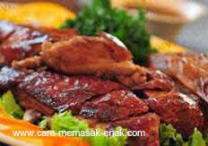 resep praktis (mudah) membuat (membikin) bebek panggang spesial enak lezat