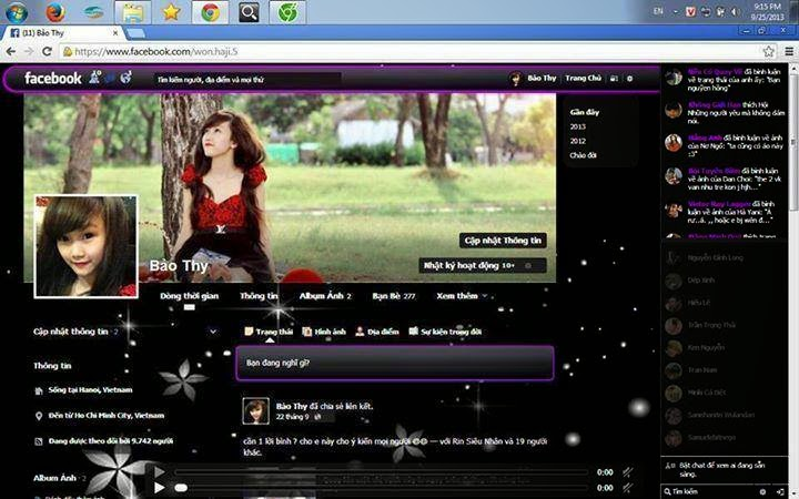 Facebook theme sample 01