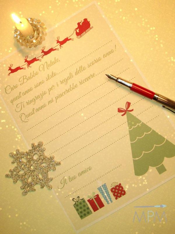 Free printables - Letterina per Babbo Natale