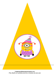 Banderin de minions para cumpleaños