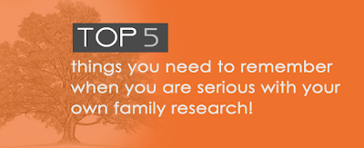 top 5 tips for genealogy research