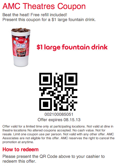 Amc theater discount coupons