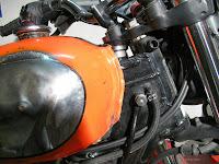 Ducati Scrambler Tank auf Honda SLR650