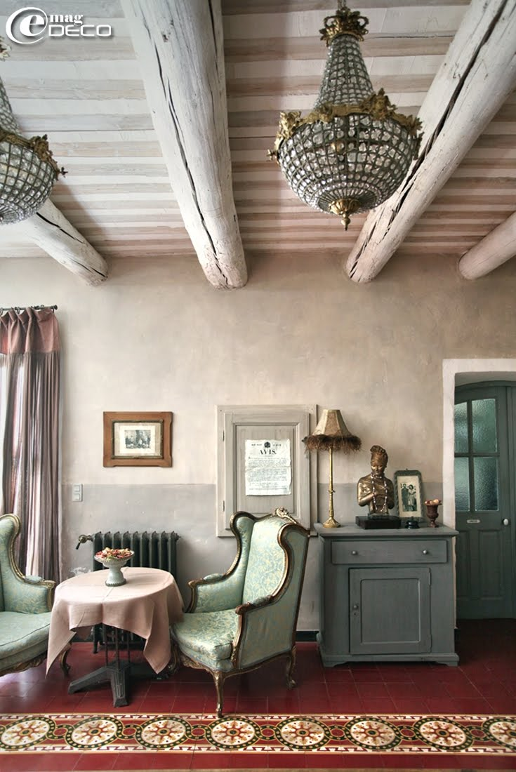 The guest house Justin de Provence to Orange, a report of the magazine of decoration e-magDECO
