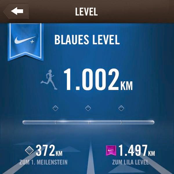 2014 habe ich ... das blaue Level bei Nike Running erreicht.