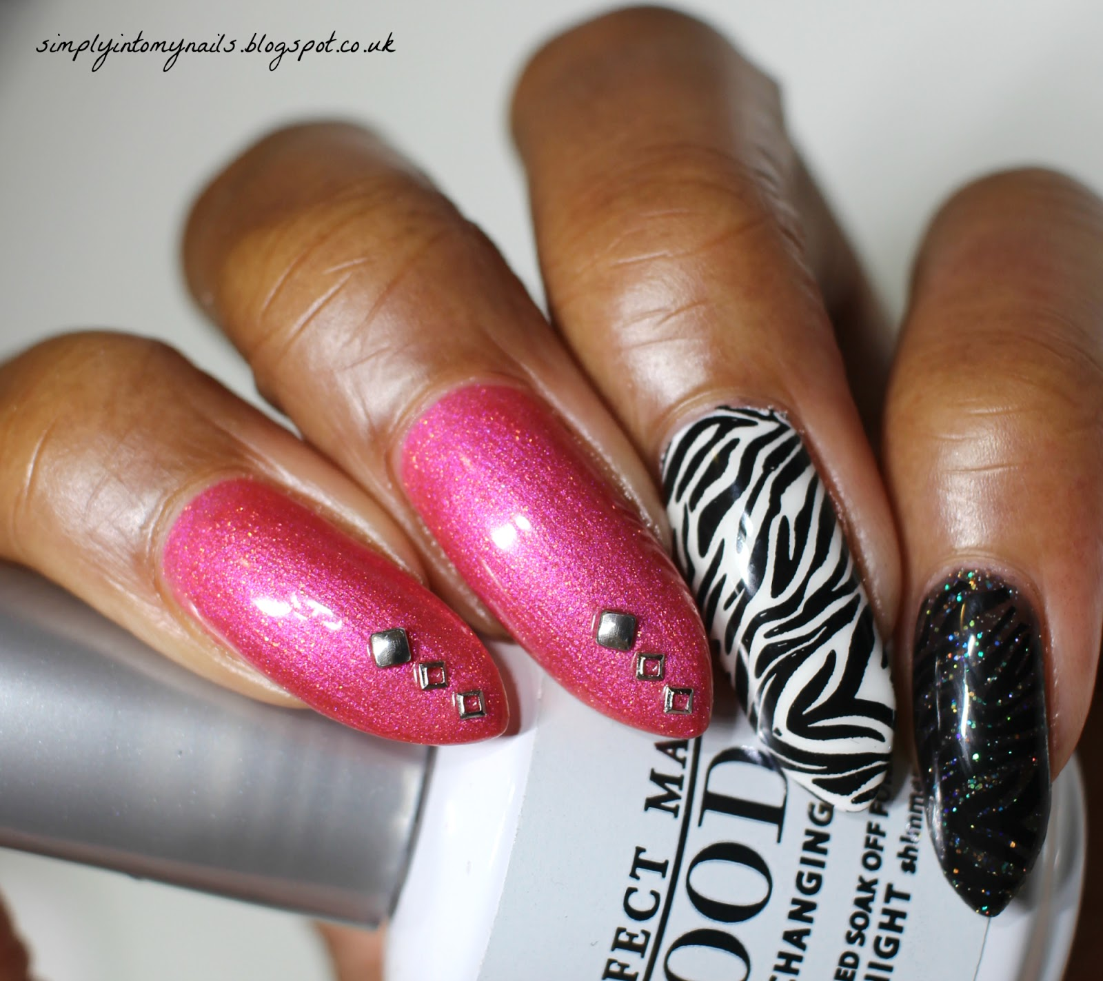 Pink zebra manicure net cancer day simply into my nails we have come together to create a series of pink zebra print manicures and as i love pink and animal print this was a very easy brief to to work with solutioingenieria Images