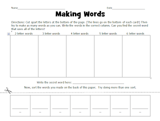 Making Words, Grade 4: Lessons for Home or School (Four-Blocks Literacy Model) b