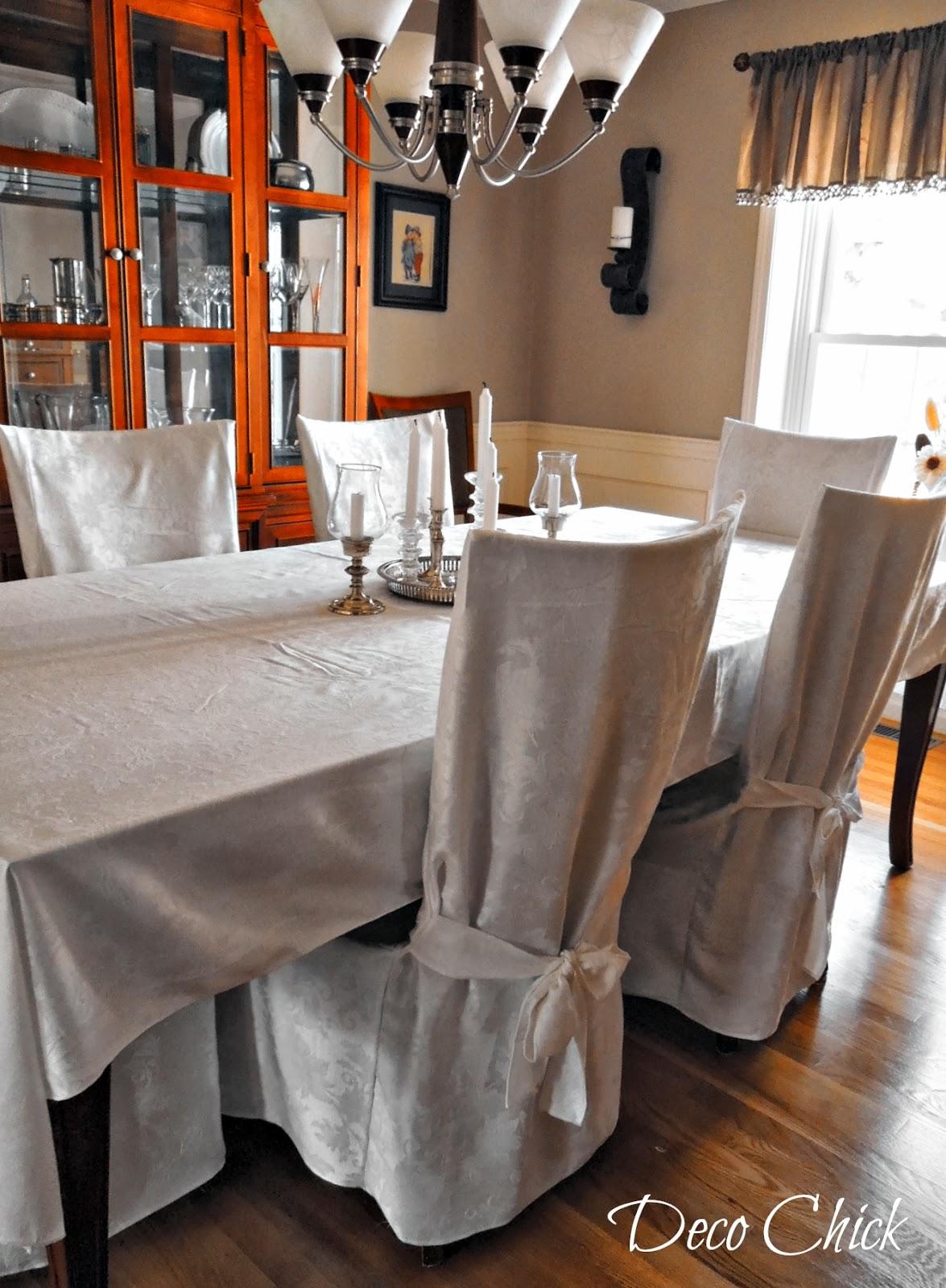 slipcover in dining room