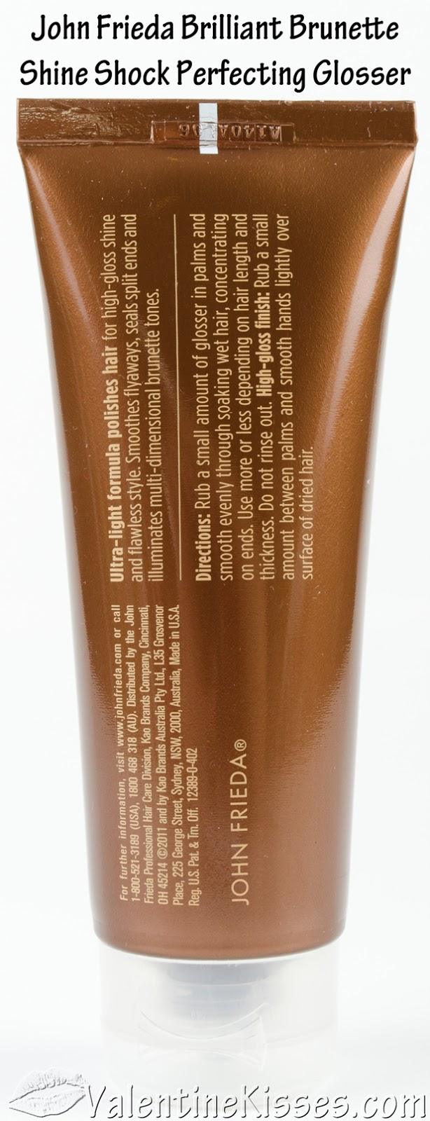 Brilliant brunette shine shock leave on perfecting glosser