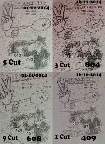 Thai lotto tip 001 thai lotto last paper 3up cut digit 01 12 2014