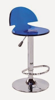 Taburete Acrílico Azul con Pie Redondo