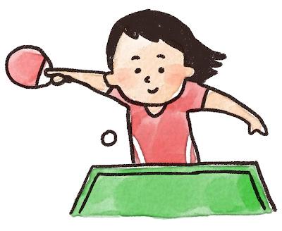卓球選手のイラスト