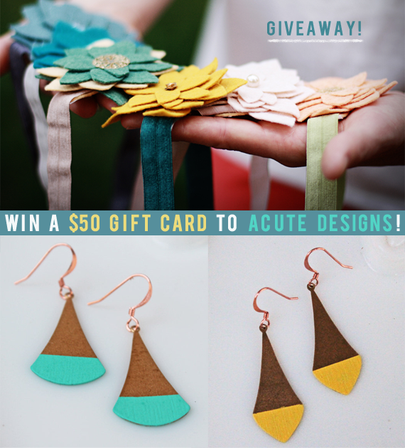 Giveaway: Win a $50 Gift Card from Acute Designs!