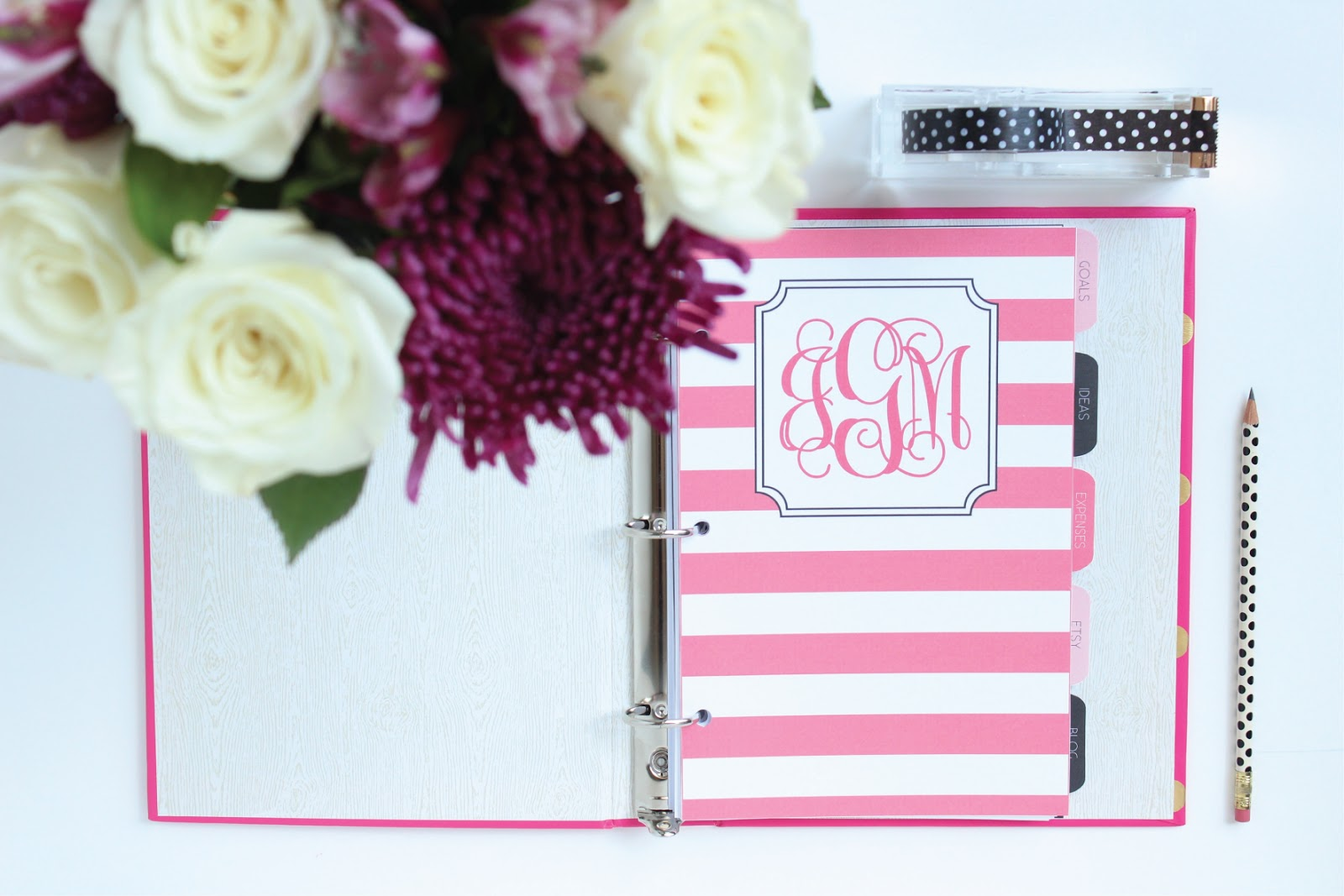 Custom Printable Dividers for Mini Binders by Jessica Marie Design