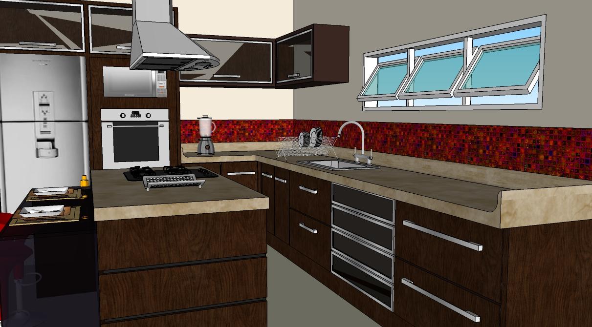 Deserta atelier projeto cozinha no sketchup for Azulejos para sketchup 8