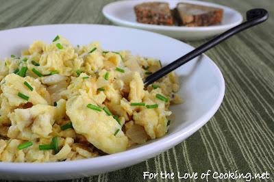 Caramelized Onion Scrambled Eggs