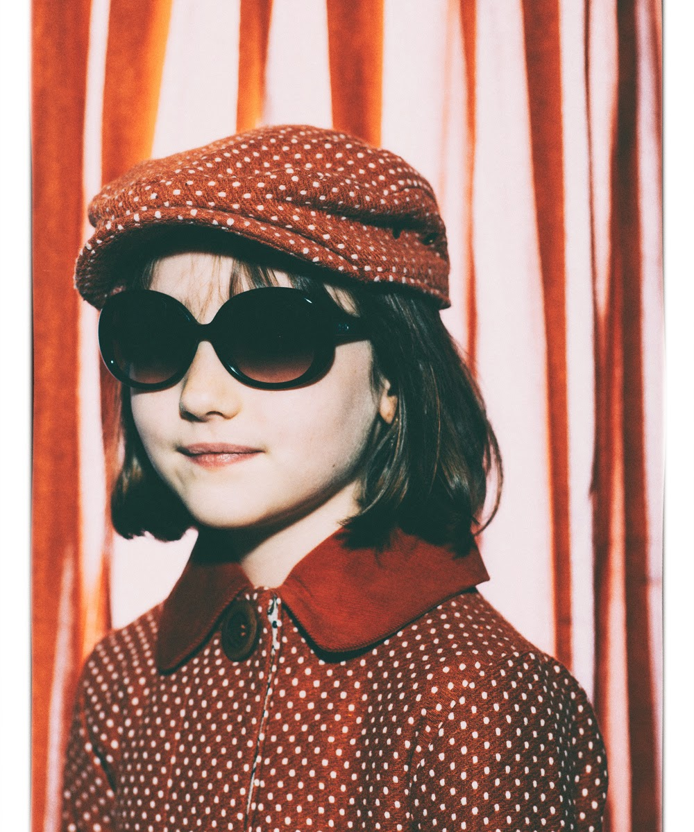 Girls dotted wool coat by Milk & Biscuits Autumn-Winter 2014/15