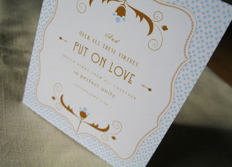 a recent custom wedding card this is one of the most loved verses used in weddings love its truewe drop the term like spare change - Bible Verses For Wedding Cards