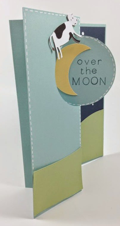 Close To My Heart Artfully Sent Cricut cartridge Over the Moon card sentiment