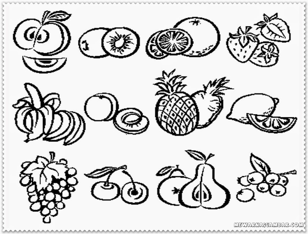 Galerry fruit group coloring pages