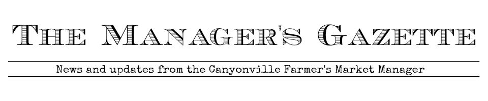 Market Manager's Gazette