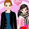 Vestir a la pareja de jovenes enamorados
