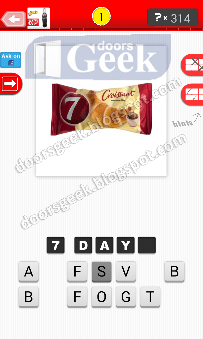 Guess the food level 20 1 answer doors geek for Solution wordbrain cuisine