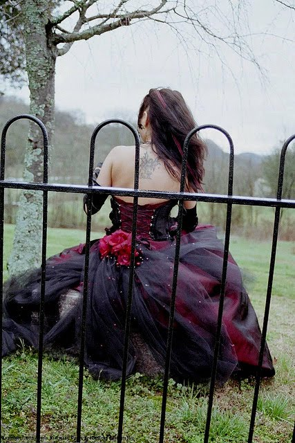 Hottest Gothic Wedding Dress Picture