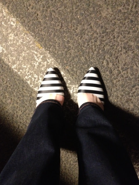 striped heels, black and white striped shoes, Sam Edelman shoes