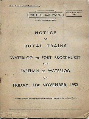 Working Notice for Royal Train