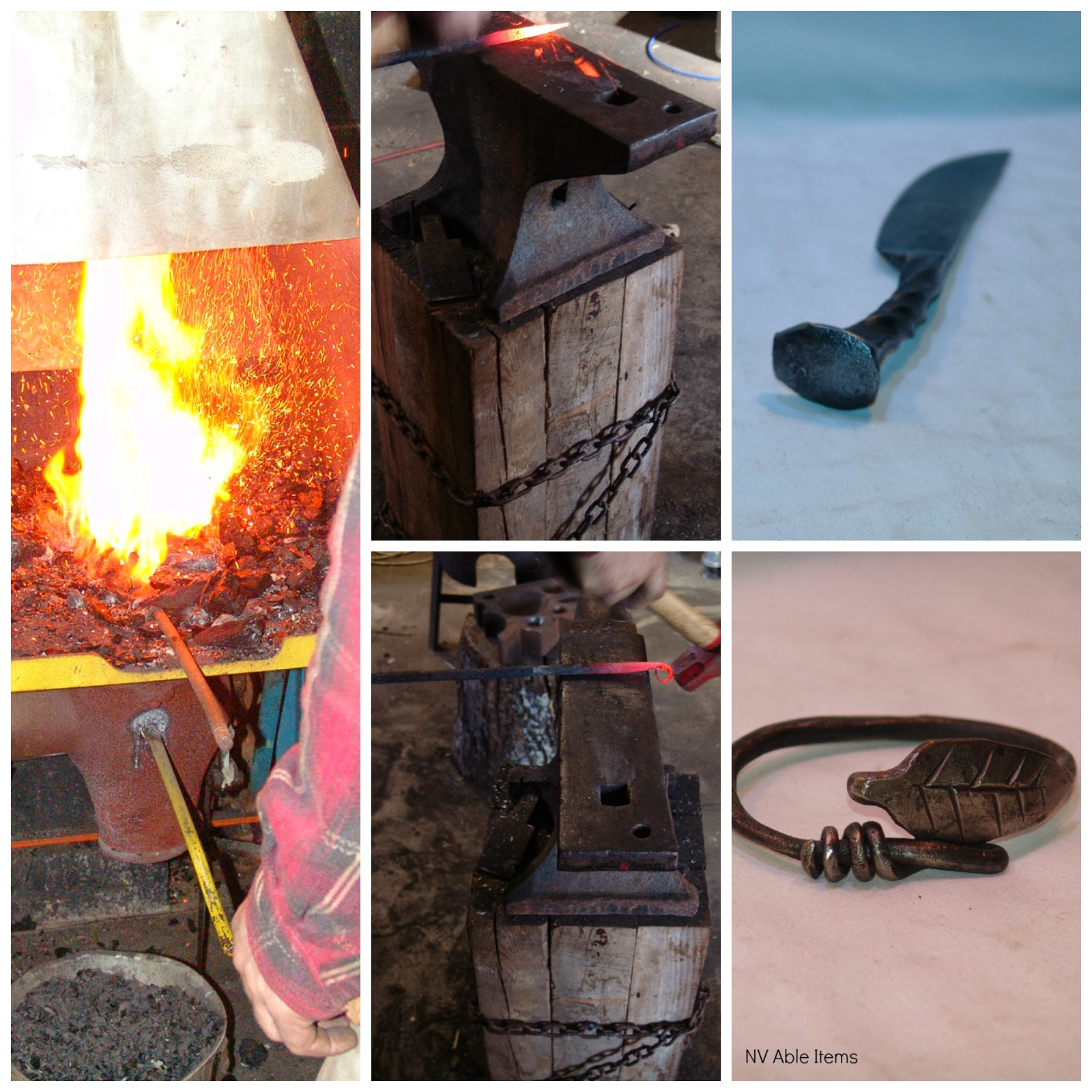 NV Able Items - handmade gifts by blacksmith Noah #crafts #gift by ASliceOfHomeschoolPie.com